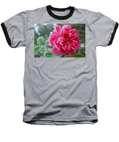 Winter Rose Baseball T-Shirt