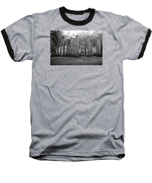 Winter Ruins Baseball T-Shirt by Scott Hansen