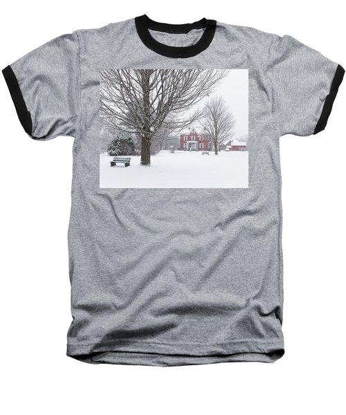 Winter Scene Baseball T-Shirt by Tim Kirchoff