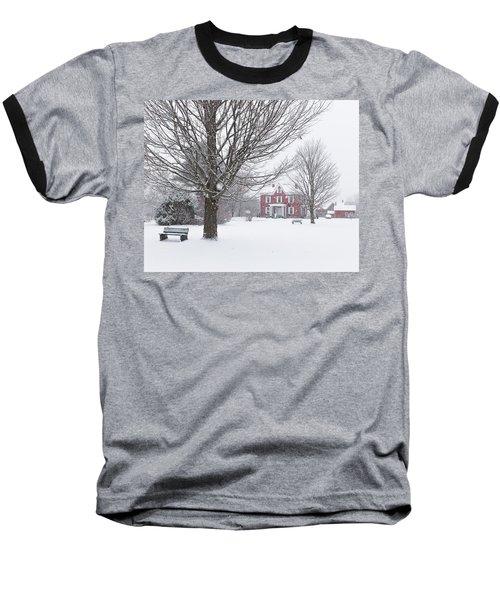 Winter Scene Baseball T-Shirt