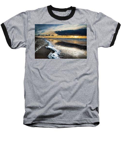 Winter Sea Sunset Baseball T-Shirt
