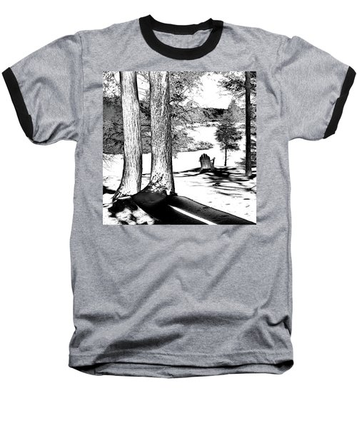 Baseball T-Shirt featuring the photograph Winter Shadows by David Patterson
