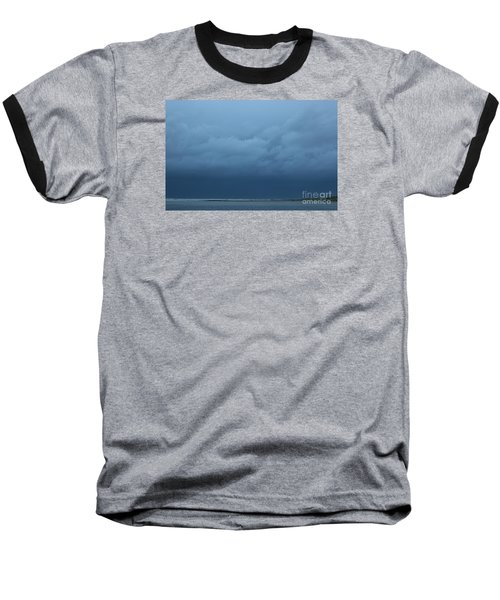 Baseball T-Shirt featuring the photograph Winter Sky by Jeanette French