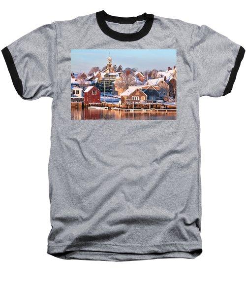 Winter Snowfall In Portsmouth Baseball T-Shirt