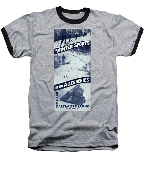Winter Sports In The Alleghenies Baseball T-Shirt