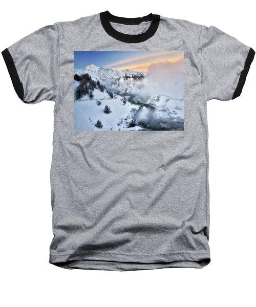 Winter Steam  Baseball T-Shirt by Nicki Frates