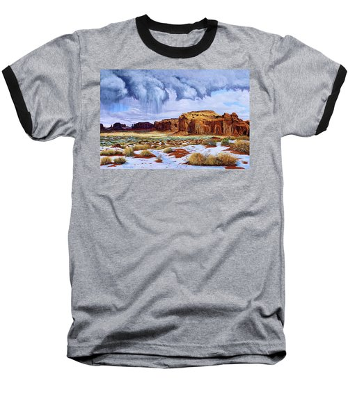 Winter Storm In Mystery Valley Baseball T-Shirt