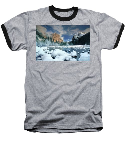 Baseball T-Shirt featuring the photograph Winter Storm In Yosemite National Park by Dave Welling