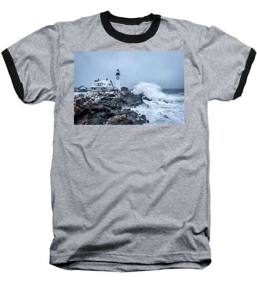 Winter Storm, Portland Headlight Baseball T-Shirt
