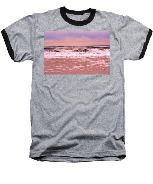 Winter Storm Waves Baseball T-Shirt