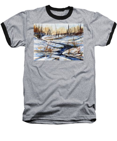 Winter Stream Baseball T-Shirt by Judith Levins
