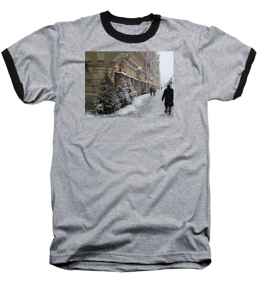 Winter Stroll In Helsinki Baseball T-Shirt by Margaret Brooks