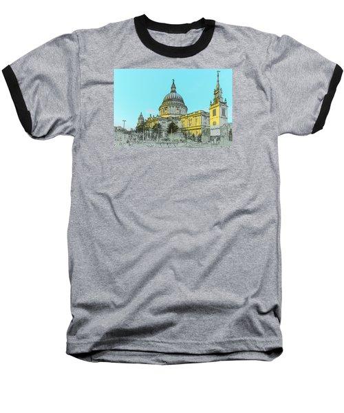 Winter Sun St Paul's Poster  Baseball T-Shirt