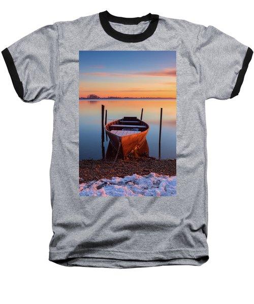 Winter Sunbathing Baseball T-Shirt