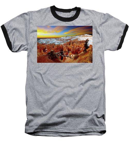 Winter Sunrise At Bryce Baseball T-Shirt