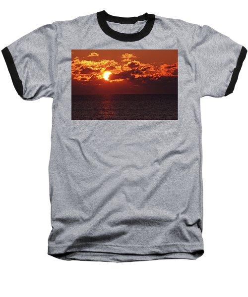 Winter Sunrise Baseball T-Shirt by Greg Graham
