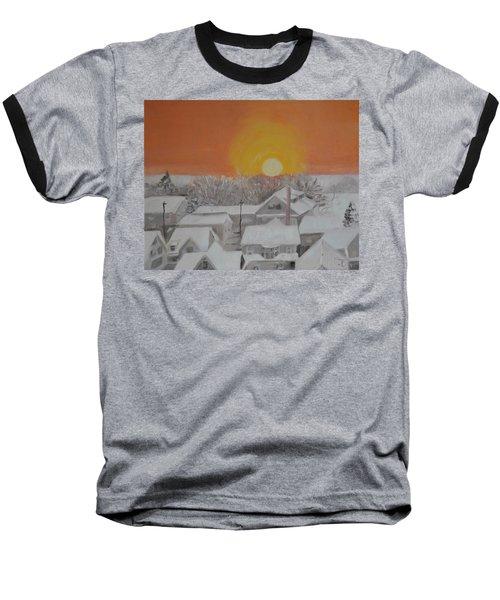 Winter Sunrise Baseball T-Shirt