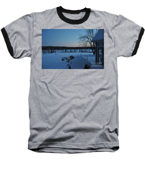 Baseball T-Shirt featuring the photograph Winter Sunrise On Demond Pond by John Black