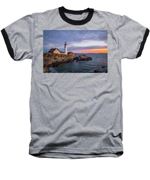 Winter Sunrise Over Portland Head Light Baseball T-Shirt