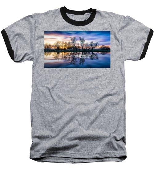 Winter Sunrise Over The Ouse Baseball T-Shirt