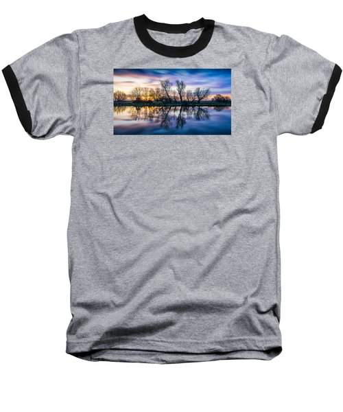 Winter Sunrise Over The Ouse Baseball T-Shirt