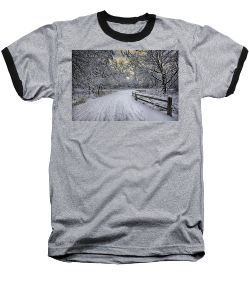 Baseball T-Shirt featuring the photograph Winter Sunrise by Sebastian Musial