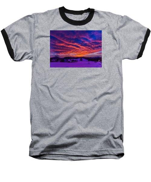 Winter Sunrise Baseball T-Shirt by Tim Kirchoff