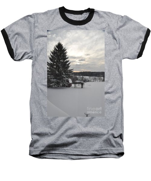 Winter Sunset - 2 Baseball T-Shirt