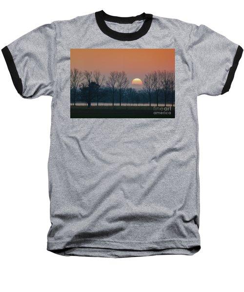 Winter Sunset 1 Baseball T-Shirt by Jean Bernard Roussilhe