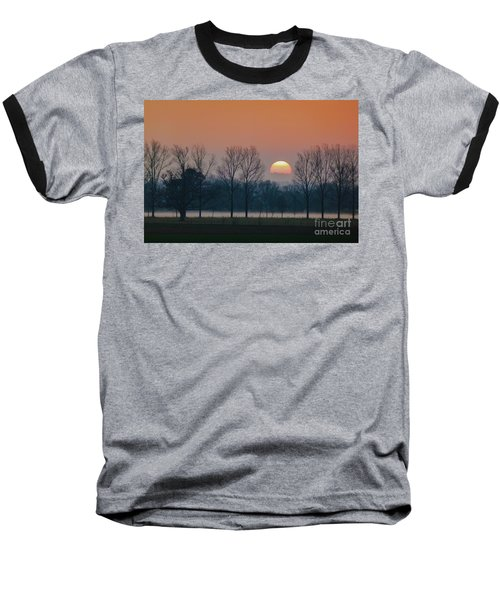 Winter Sunset 1 Baseball T-Shirt