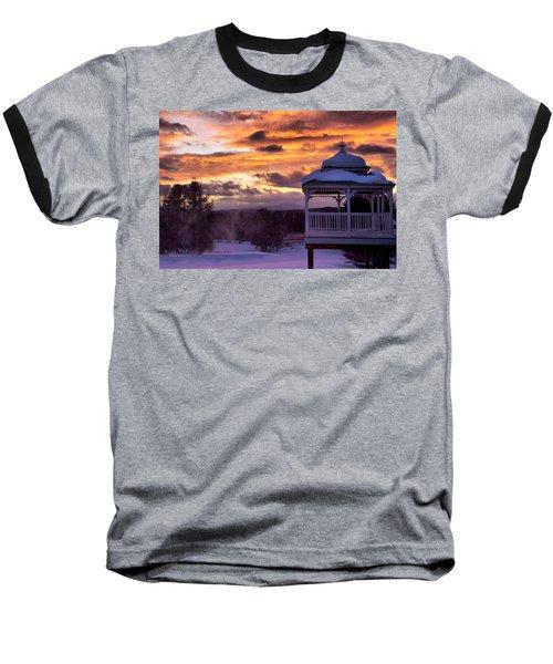 Winter Sunset  Baseball T-Shirt