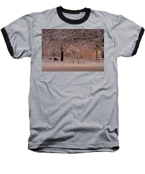 Winter Sunset Ft Hill Park Baseball T-Shirt