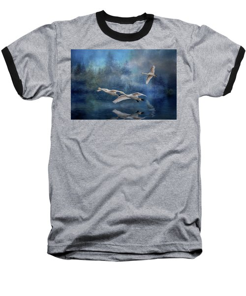 Winter Swans Baseball T-Shirt by Brian Tarr