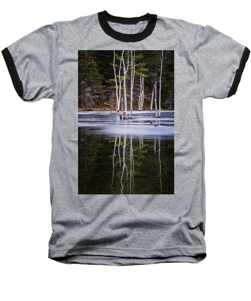 Winter Thaw Relections Baseball T-Shirt by Tom Singleton