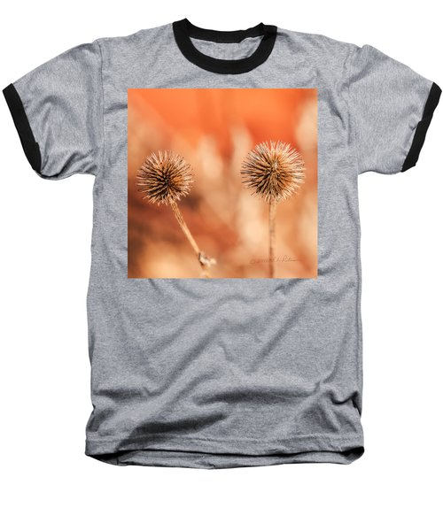 Baseball T-Shirt featuring the photograph Winter Thistle by Edward Peterson