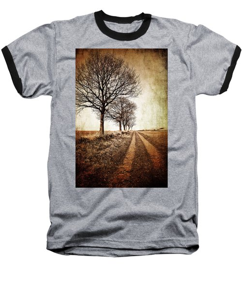 Winter Track With Trees Baseball T-Shirt