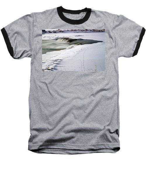 Winter Tracks Baseball T-Shirt by Eric Nielsen