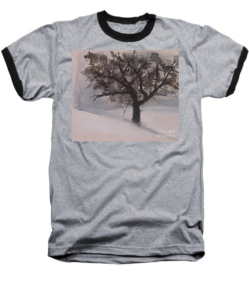 Winter Tree Baseball T-Shirt by Laurie Rohner