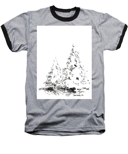 Winter Trees 1 - 2016 Baseball T-Shirt