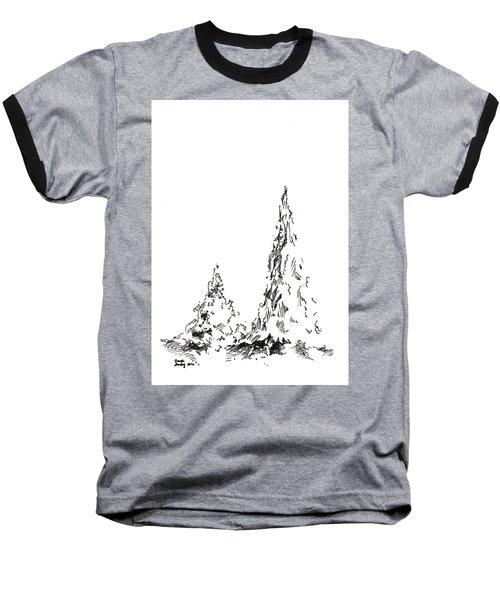 Winter Trees 2 - 2016 Baseball T-Shirt