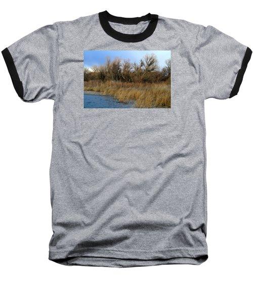 Winter Trees Along The Snake Baseball T-Shirt