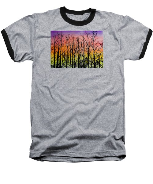 Winter Trees At Sunset Baseball T-Shirt
