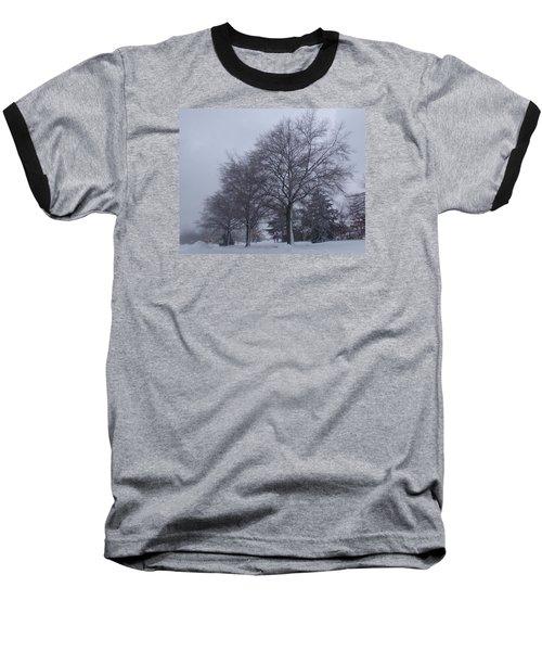 Winter Trees In Sea Girt Baseball T-Shirt by Melinda Saminski