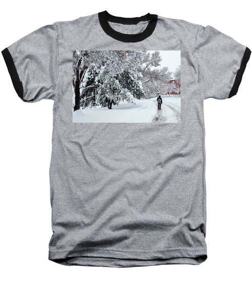 Winter Trekking-3 Baseball T-Shirt