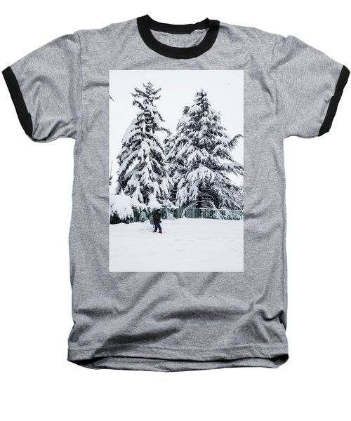 Winter Trekking Baseball T-Shirt