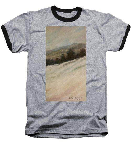 Baseball T-Shirt featuring the painting Winter Twilight by Kathleen McDermott