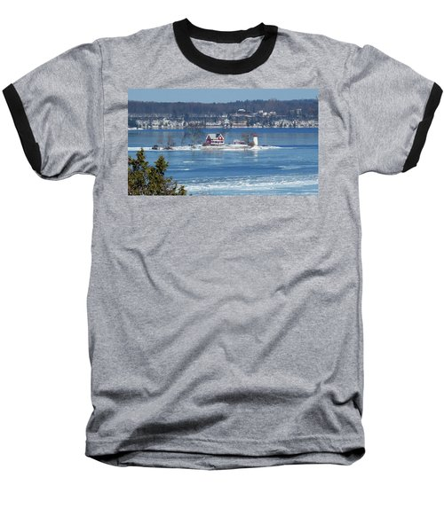 Winter View Of Crossover Island Baseball T-Shirt