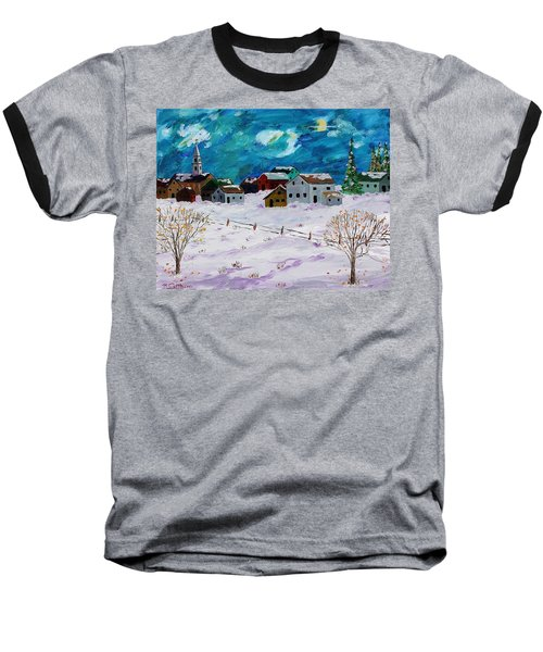 Winter Village Baseball T-Shirt