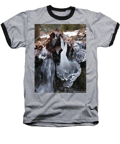 Winter Water Flow 5 Baseball T-Shirt