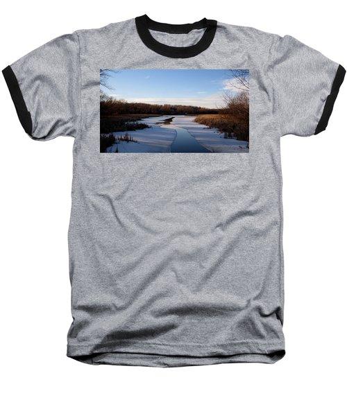 Winter Waters At Lake Kegonsa Baseball T-Shirt by Kimberly Mackowski